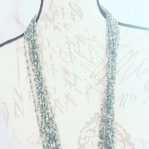 Jewelry - Sage Green Seed Bead Necklace